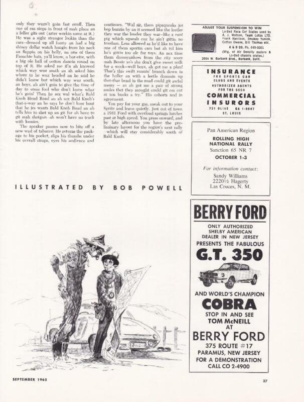 Rare Original 1965 Shelby GT-350 Mustang Ad/ Berry Ford/Paramus NJ