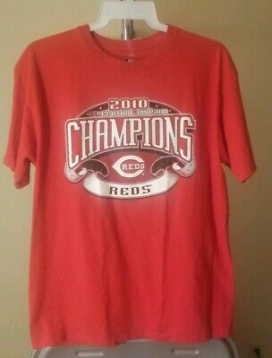 Cincinnati Reds MLB Classic Red 2010 Central Champions Large T-Shirt -
