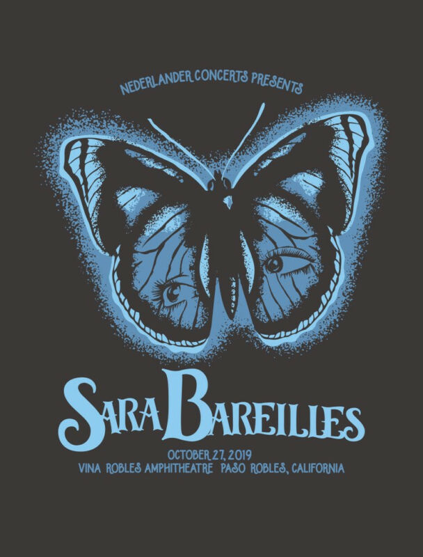 SARA BAREILLES CONCERT GIG POSTER 2019 - NEW