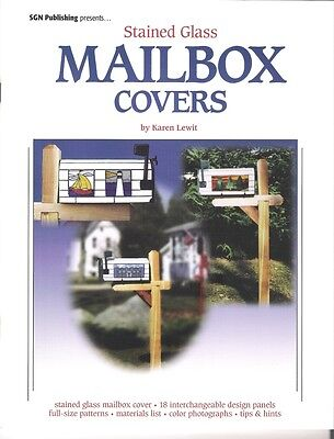Mailbox Covers By Karen Lewit Stained Glass Pattern Book NEW!