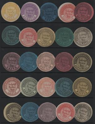 EGYPT: Collection of Different Interpostal Seals / Labels - Album Page (13484)