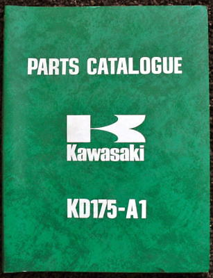 KAWASAKI RANGE 1976 MOTORCYCLE ILLUSTRATED PARTS LIST & SUPPLEMENT