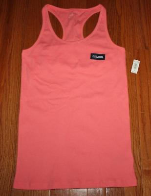 NEW NWT Womens GAP Love by GapBody Pink Tank Top Built-In Bra Ribbed Stretch -