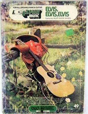 Elvis Elvis Elvis Sheet Music EzPlay Organ Piano Guitar 21 Hits Blue Suede Shoe for sale  Shipping to Canada