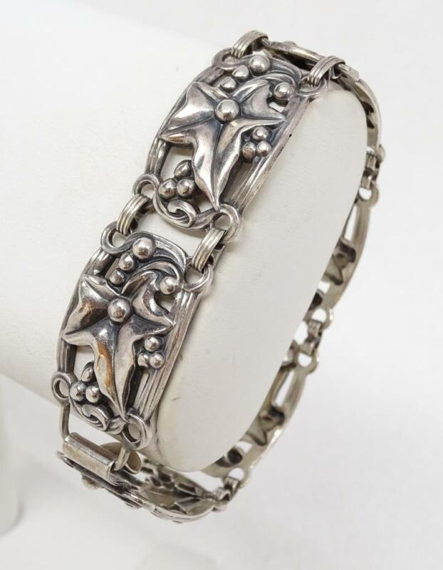 Vintage Danecraft Sterling Silver Ivy Leaf Bracelet SCARCE