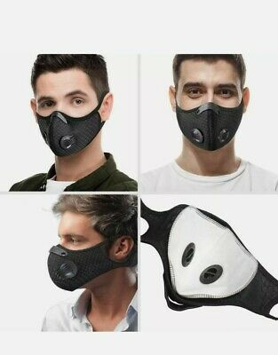 Neck Strap Face Mask with D ventsFilter- outdoor, working,gyms,Breathe safe