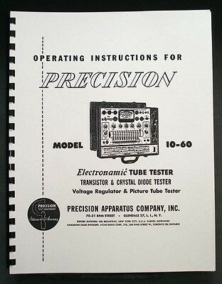 Precision Tube Tester 10-60 Operating Instructions
