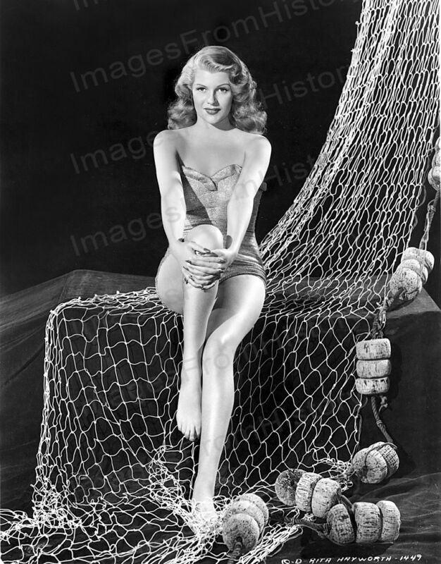 8x10 Print Rita Hayworth Sexy Leggy Cheesecake Pin Up #RHEU