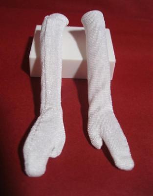 BARBIE DOLL CHRISTMAS CAROL EDEN/PILLOW TALK WHITE SATIN LONG GLOVES-clothes
