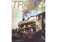 TRAINS & RAILWAYS 1970's (?) MAGAZINES FOR SALE
