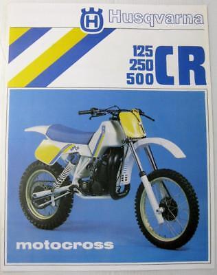 HUSQVARNA 125 250 500 CR Motocross #15 17 730-04 Original Motorcycle Sales Sheet