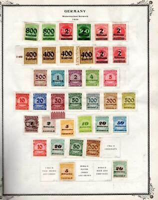 1¢ WONDER ~ GERMANY M&U ON PAGES ALL SHOWN ~ W411