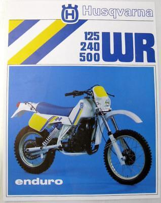 HUSQVARNA 125 240 500 WR Enduro #15 17 731-03 Original Motorcycle Sales Sheet