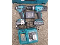 Makita 18v lxt drill set +3 battery