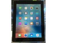 Mint condition Apple iPad 4 64GB Wi-Fi in black.