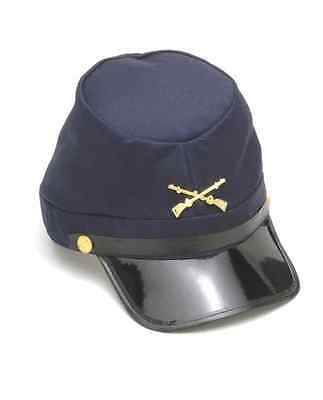 Army Hat Costume (CIVIL WAR UNION OFFICER SOLDIER GENERAL ARMY UNION COSTUME KEPI HAT)