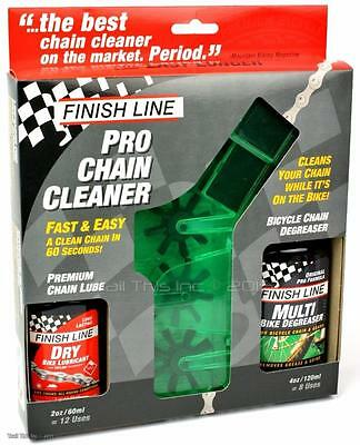 Finish Line Pro Chain Cleaner Kit W  Dry Lube   Degreaser Bicycle Repair Tool