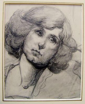SMALL PORTRAIT A  MATURE LADY WITH BOUFFANT HAIR PENELOPE GOODMAN PENCIL C1914