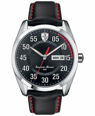 Ferrari 830173 Scuderia 42MM Men's Black Leather Watch