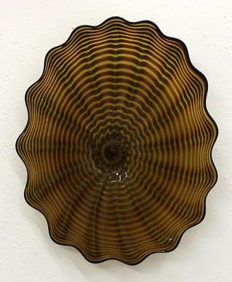 Beautiful Hand Blown Glass Art Wall Platter Bowl  wrap 6472 ONEIL
