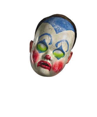 Adult Scary Evil Possessed Baby Clown Doll Costume Mask - Possessed Baby Halloween Costume