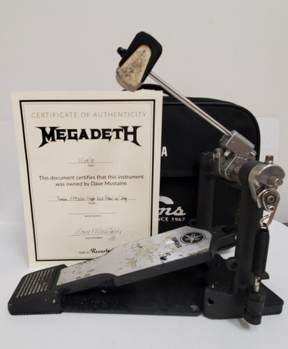 Megadeth DAVE MUSTAINE OWNED AND USED KICK PEDAL W/ COA FREE SHIP MAKE OFFER