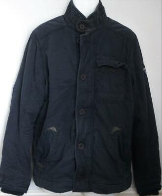 Abercrombie & Fitch Men's Jacket Twill Military Navy Large NEW NWT FREE SHIPPING