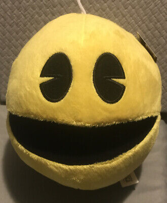 """Pac-Man Plush - 7"""" Toy factory Fast Shipping USA , Brand New With Tag"""