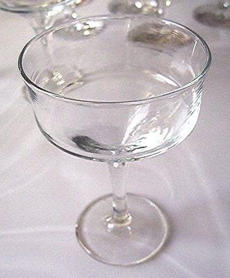 4 Retro small Champagne Martini Glasses