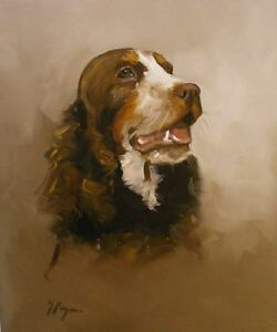 Commission an oil painting portrait pet dog , cat horse
