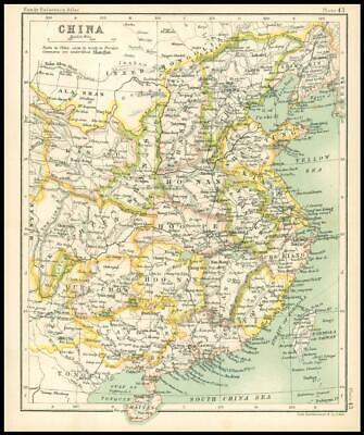 c1912 Map of CHINA Chart Regions (BS47)