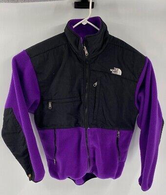 The North Face Womens Fleece Jacket Purple Black Color Block Full Zip Pockets M