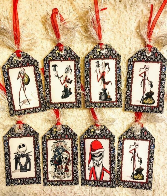 Set of 8 Hang Tags~Nightmare Before Christmas~Gift Tags~Scrapbooks~Cards~#296R