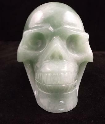 Carved Crystal Skull Realistic Green Aventurine Free Shipping USA Seller