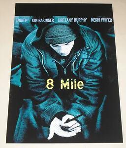 "8 Mile PP Signed 12""X8"" Poster Eminem   eBay"