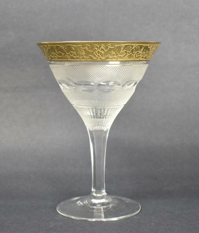 "Moser Crystal ""Splendid"" 24K Gold Designs Champagne Glass"