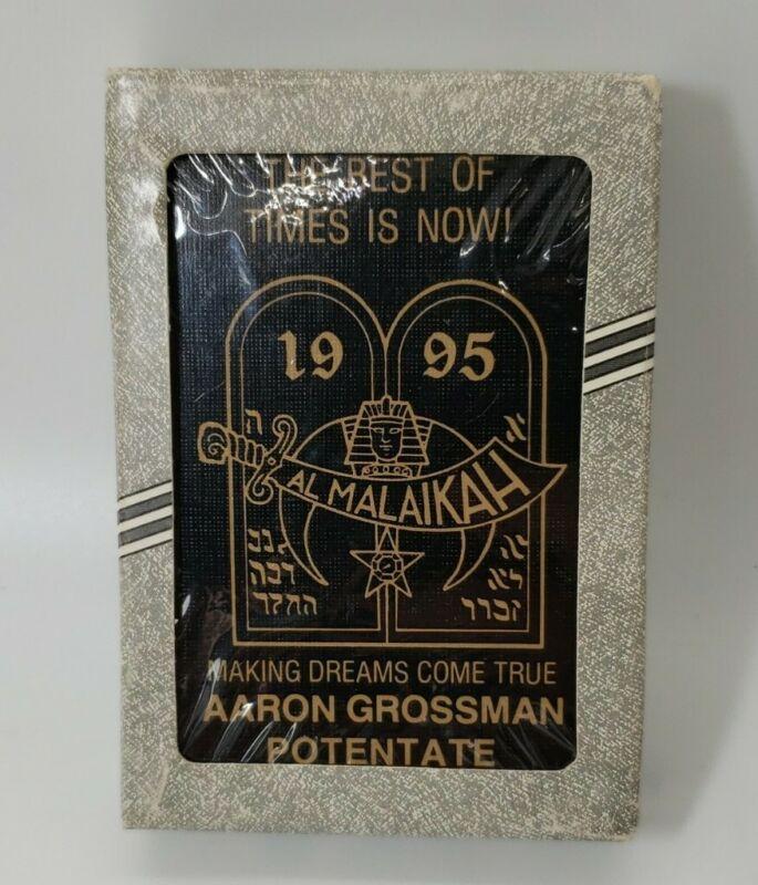 Al Malaikah Temple Shriners Potentate Playing Cards-Sealed Liberty Poker 1995