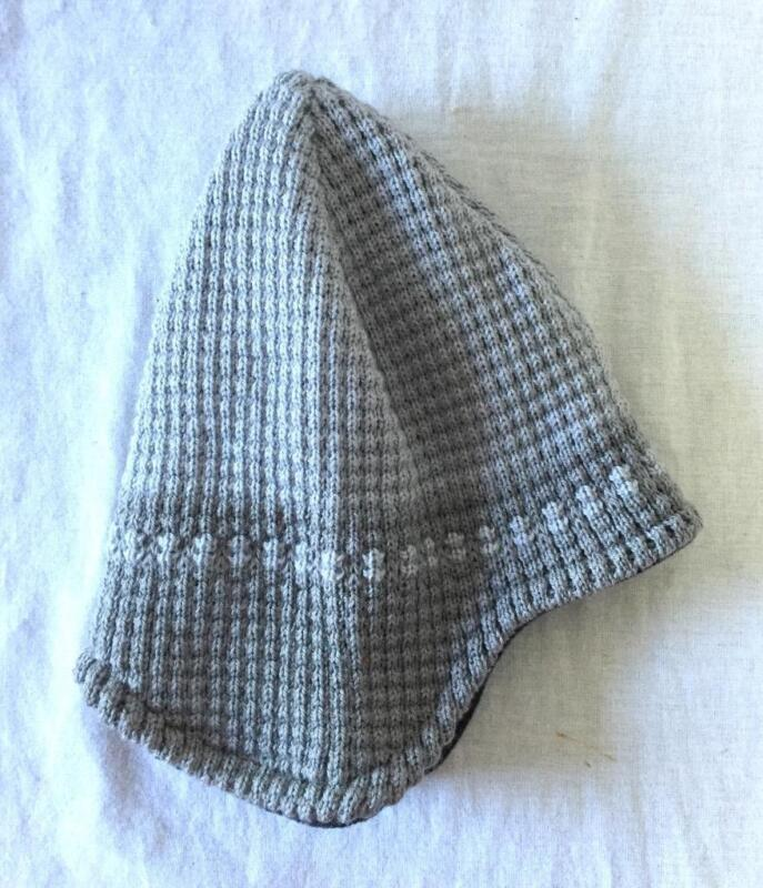 Screamer Waffleman Beanie with Flaps One Size Fits All Color Grey NEW