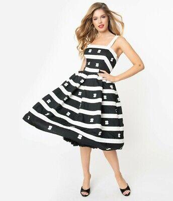 NWT Unique Vintage X Barbie SUBURBAN SHOPPER BUSY MORNING DRESS sz XS