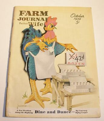 Vintage October 1939 FARM JOURNAL and Farmer Wife Magazine Advertising