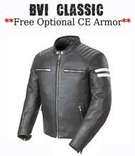 LEATHER MOTORCYLE JACKETS-**PREMIUM TOP GRAIN LEATHER** $199-$239 City North Canberra Preview