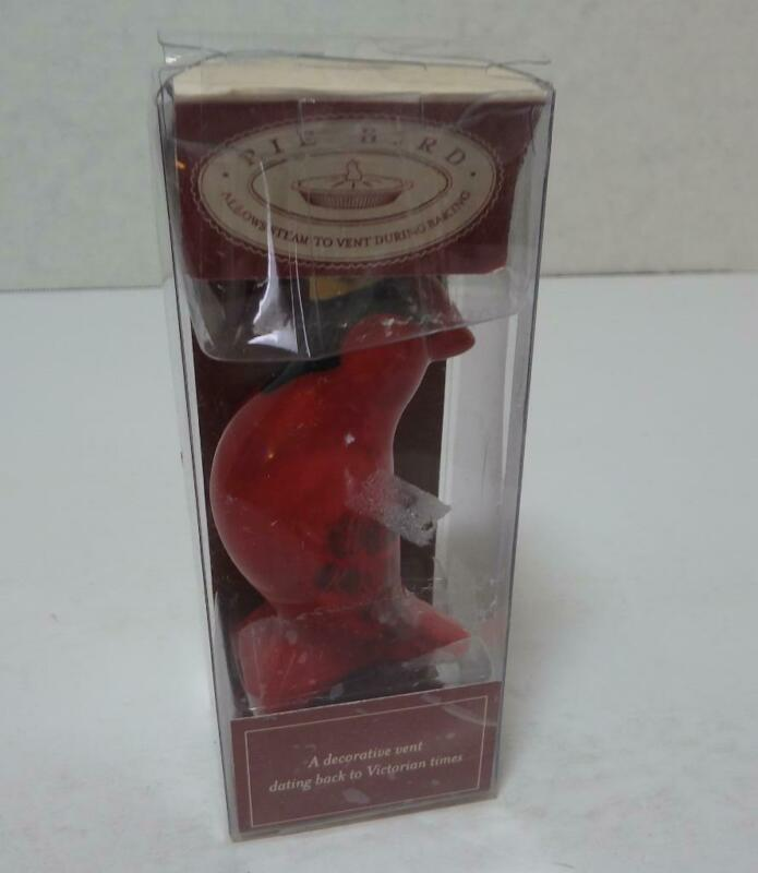 Pie Bird William Sonoma Pfaltzgraff Ceramic Red Cardinal Steam Vent New In Box