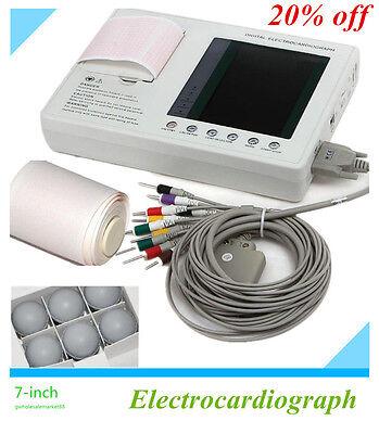 Medical Fda 12-lead 3-channel Electrocardiograph Ecgekg Machine Interpretation