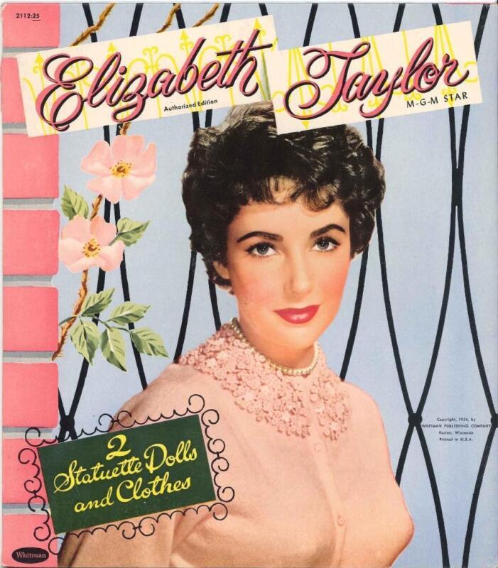 VINTAGE UNCUT 1955 ELIZABETH TAYLOR PAPER DOLLS ~HD LASER REPRODUCTION~LO PR~H
