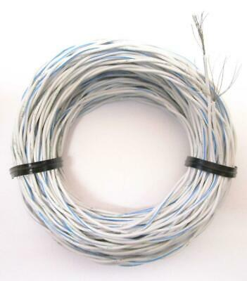 50 Mil-spec 22-awg Twisted Stranded Pair Bluewhite Silver Plated Wire Ptfe