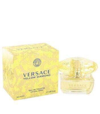 Versace Yellow Diamond Women's Eau de Toilette Spray- Genuine New Boxed 50ml