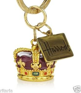 HARRODS 2012 THE QUEEN'S DIAMOND JUBILEE CROWN enamel KEYRING queen elizabeth ll
