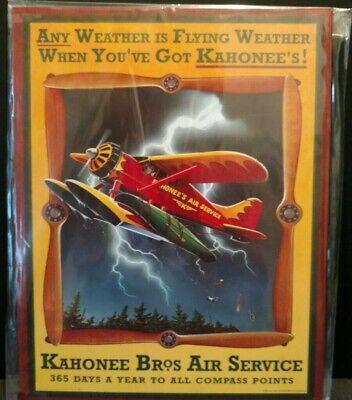 Biplane Air Service Vintage Replica Tin Sign Home Decoration Man Cave Garage BS