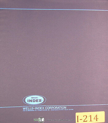 Wells Index Wellsaw 500-1500 Programming Operations Manual Year 1983