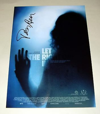"LET THE RIGHT ONE IN PP SIGNED 12""X8"" POSTER ALFREDSON"